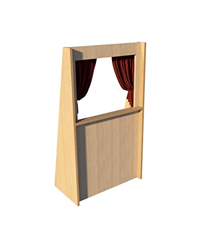 Puppet Theater Plans DIY Woodworking Free Standing Stage Kids Adults Play