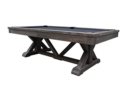Playcraft Brazos River 8′ Slate Pool Table, Weathered Black Review