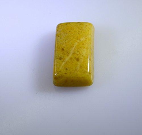 jade jaune lâche emaral de pierres précieuses coupe cabochon 1 pc 12x20 mm styeljd-510006