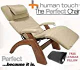 The Human Touch Power Electric Perfect Chair Recliner - PC95 / PC-095 Walnut Recline Wood Base Ivory Leather Pads - Interactive Health Zero Anti Gravity Chair