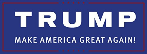 Trump 2016: Presidential Magnetic Bumper Sticker 11 by 3.75 inches; 100% Made in America