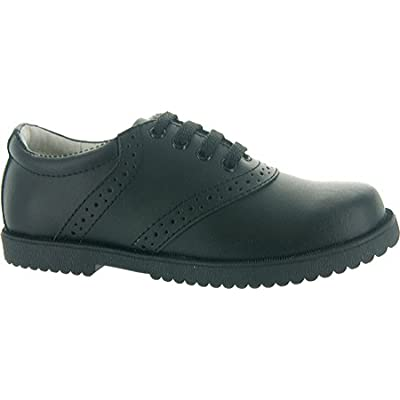 Academie Gear Leather Saddle Shoes Black Wide