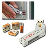 Lindy USB Port Blocker - Pack of 4, Orange (40453)