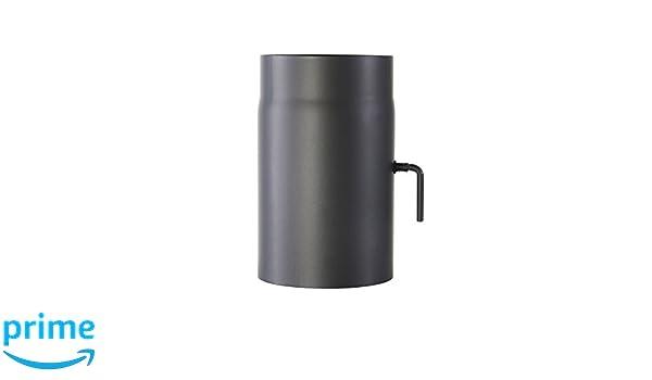 Kamino-Flam 331884, Tubo con Válvula para Chimenea, Acero, 15 x 0,2 x 25 , Gris, 2 Unidades: Amazon.es: Hogar