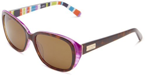 Kate Spade Hilde/P/S Hilde/P/S Polarized Cat Eye Sunglasses,Tortoise/Purple,54 - Sunglasses P