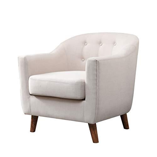 247SHOPATHOME IDI-8025 Penelope Accent Chair, Cream