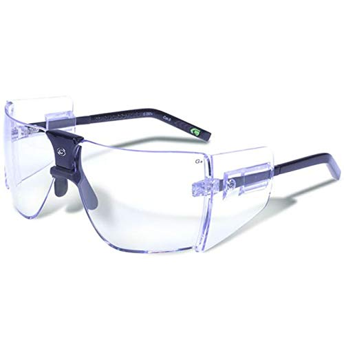 - Gargoyles Performance Eyewear Classic Polycarbonate Safety Glasses, Black Frame/Clear Lenses