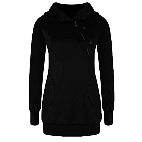 pour Femmes Décontractée Zhrui Veste Noir Col Long Unique Couleur d'Extérieur Vêtement Poches Taille Bleu avec Petite qwEwft4