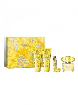 Versace Yellow Diamond for Women 4 Piece Set: 3.0 Oz Eau De Toilette Spray + 3.4 Oz Perfumed Body Lotion + 3.4 Oz Perfumed Shower Gel + 10ml Eau De Toilette Spray By Versace