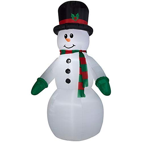 Airblown Inflatable 10 foot Gemmy Christmas LED Snowman with scarf and top hat