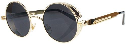 Aviator Vintage Womens Sunglasses Retro Eyewear Lens Black - 5