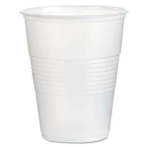 Boardwalk TRANSCUP16CT Translucent Plastic Cold Cups, 16oz (Case of 1000) ()