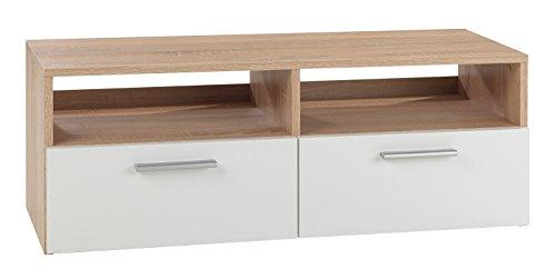 TV-Lowboard RASANT, Eiche Sonoma/weiss, 95x35x36 cm