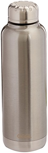 Oggi 8089.0 Sommelier Double Wall Vacuum Sealed Wine Carrier with Stainless Steel Liner, Silver, 25 (Double Wall Stainless Liner)