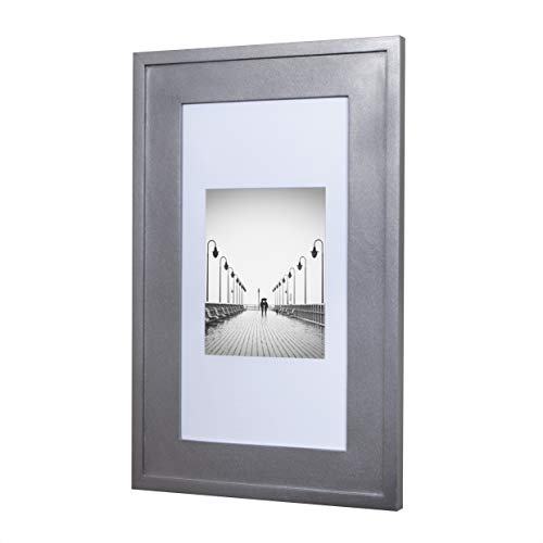 (14x24 Silver Concealed Medicine Cabinet (Extra Large), a Recessed Mirrorless Medicine Cabinet with a Picture Frame Door)