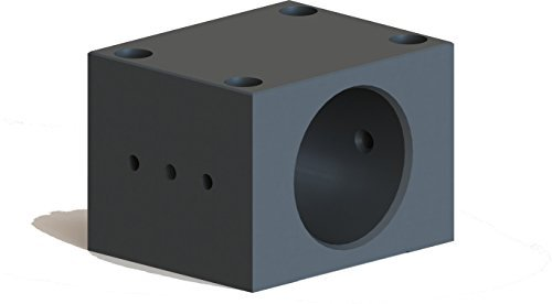 [해외]OAV 에어 베어링 MBi0500 0.500 에어 부싱 용 알루미늄 하우징 블록, 0.947 ID, 2 OD, 2 Width/OAV Air Bearings MBi0500 Aluminum Housing Block for 0.500  Air Bushings, 0.947  ID, 2  OD, 2  Width