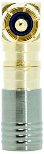 Legrand - On-Q AC300510, Compression Rg6u/Quad Shield Right Angle RCA Plug, 10 Pack, Gold