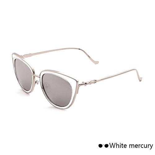 Of The Vintage Retro TIANLIANG04 Sol Eye Lord Hembra De Mujer Leopard De Cat En Gafas De White Eyewear De Mercury Metal Gafas Espejo Sol PwaqTZP