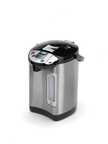 Addis Thermo Pot Instant Thermal Hot Water Boiler Dispenser, 3.5 liters, Stainless Steel/Black