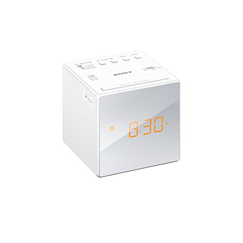 Sony ICF-C1W Uhrenradio (LED-Display, Alarm) weiß