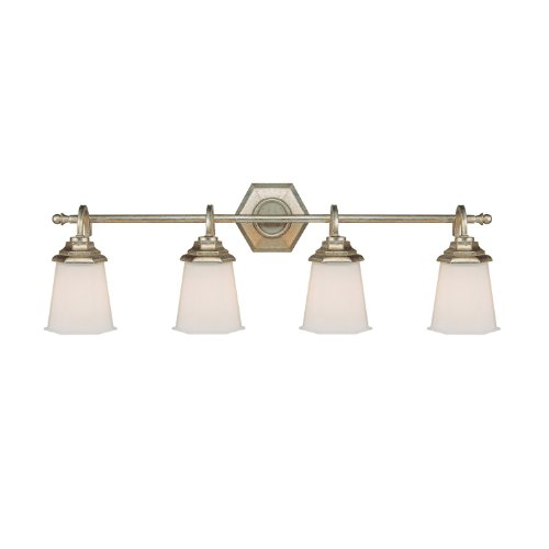 5th Avenue 1 Light - Capital Lighting 1069WG-101 Vanity with Soft White Glass Shades, Winter Gold Finish