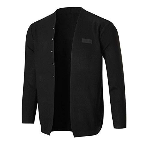 Solide Manches 's Manteau Charme Hauts Blouse Outwear Schwarz Tricot En À Cardigan Coton Slim Fit Hommes Longues Chic Men nZHq8EwExY