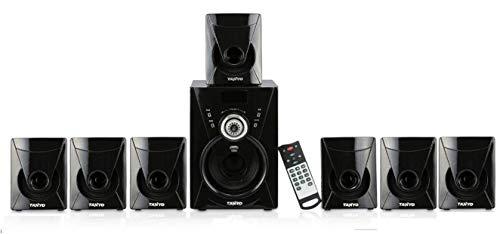 IKALL I Kall 7.1 Channel Bluetooth Speaker  TA 777 BT  Portable Home Audio Speaker System   Black  Power :7000 Watts PMPO