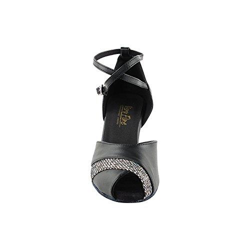 50 Shades Of Black Dance Zapatos Collection Ii, Comfort Vestido De Noche Wedding Pumps, Zapatos De Salón Para América, Tango, Salsa, Swing, Theather Arte Por 50 Tonos (2.5, 3 & 3.5 Heels) 2701 - Cuero Negro Y Negro Sparklnet