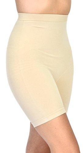 GCool Tech Patricia Lingerie Women's Anti-bacterial Fabric Hi-Waist Shapewear Shorts (Nude S)