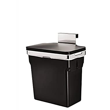 simplehuman In-Cabinet Trash Can, Heavy-Duty Steel Frame, 10-L / 2.6-Gal