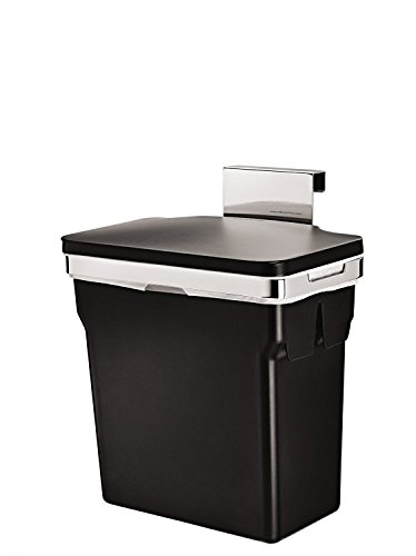 simplehuman 10 Liter / 2.6 Gallon In-Cabinet Kitchen Trash Can, Heavy-Duty Steel Frame - Grocery Bag Can Trash
