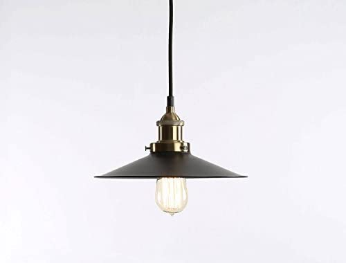 Fulton Bronze Canopy Pendant Vintage Hanging Lamp