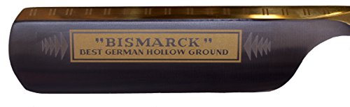 Dovo Solingen Bismarck Straight Razor Ebony Wood Handle with 24 Gold Carat...