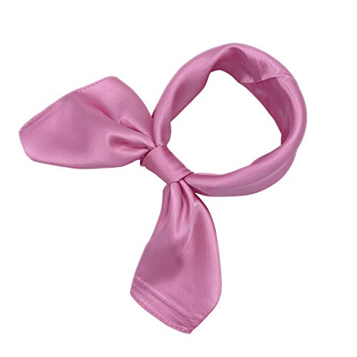 - YOUR SMILE Silk feeling Pure Color Scarf Women's Fashion Pattern Large Square Satin Headscarf Headdress 24''x24'',Pink