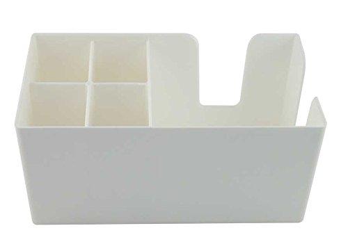 White Bar Caddy Classic | Plastic Bar Caddy White, Bar Aide, Bar Storage, Bar Organiser, Bar Condiment Caddy, Napkin Holder, Straw Holder by Chabias Ltd