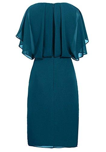 MenaliaDress Women's v-Neck Solid Short-Sleeve Knee Fitted Dress, Burgundy, 18 Plus