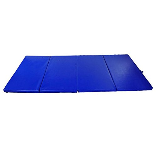 Folding Gym Mat 4' x 6' x 2'' Gymnastics Aerobics Exercise Sports Yoga Tumbling With Ebook by MRT SUPPLY