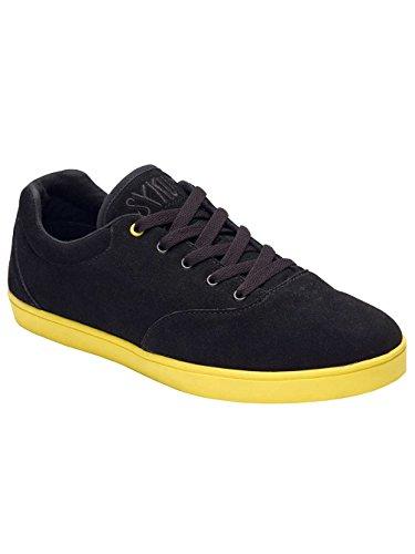 Sykum Unisex-Erwachsene Basic Sneakers Schwarz / Gelb