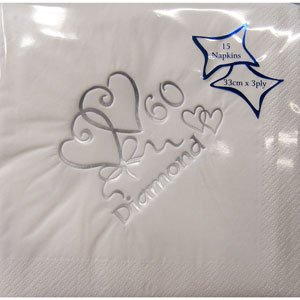 60th-Diamond-Wedding-Anniversary-Napkins
