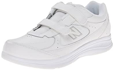 """New Balance Women's WW577 Walking Velcro Shoe,White,5 D US"""