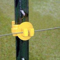 (Zareba T-Post Wrap-Around Insulator - 25 Pack - Yellow)