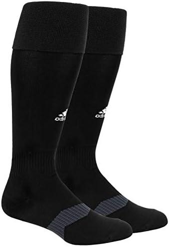 adidas Metro IV Soccer Socks, BlackWhiteNight Grey, X