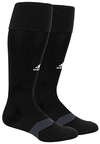 adidas Unisex Metro IV OTC Soccer Sock (1-Pair), Black/White/Night Grey, 13C-4Y
