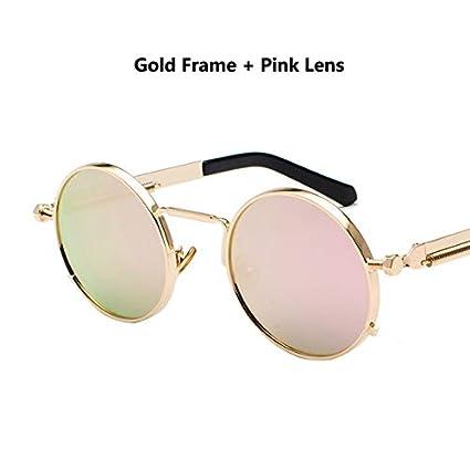 Kasuki 2018 Classic Round Sunglasses 12 Colors Metal Springs ...