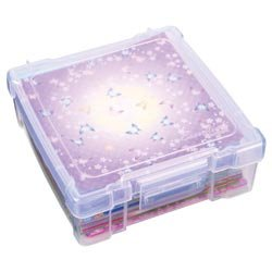 Bulk Buy: Artbin (3-Pack) Storage Essentials Box 6in. x 6in. Translucent 6953AB Flambeau Inc.