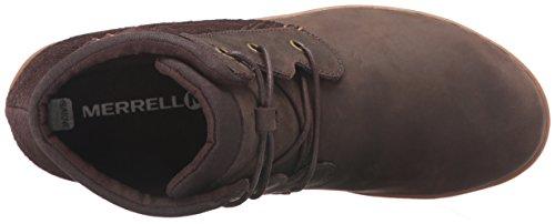 Merrell Womens Ashland Vee Ankle Black Boot Black sello de Brown