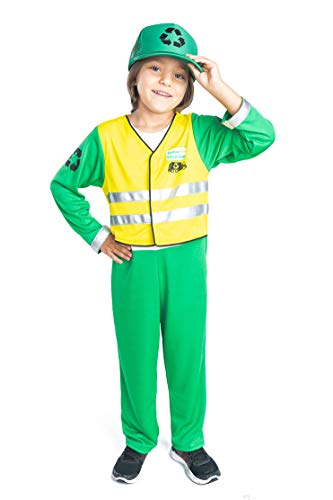 Garbage Man Costume Garbage Truck Man Pretend Play for Kids (4-6yrs)]()