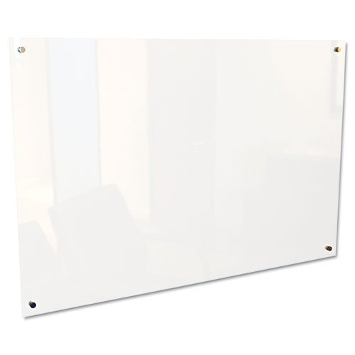 Best-Rite Enlighten Glass Dry Erase Whiteboard, Frosted Pearl 1/8 inch Tempered Glass, 4 x 6 Feet (83952) by Best-Rite