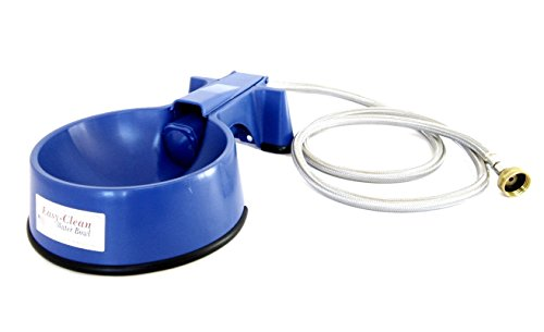 - The Easy-Clean Auto-Fill Water Bowl with (5-Foot) Long Stainless Steel Hose