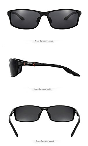 Sunglasses For Men Polarized Black Dark Lenses Large ...